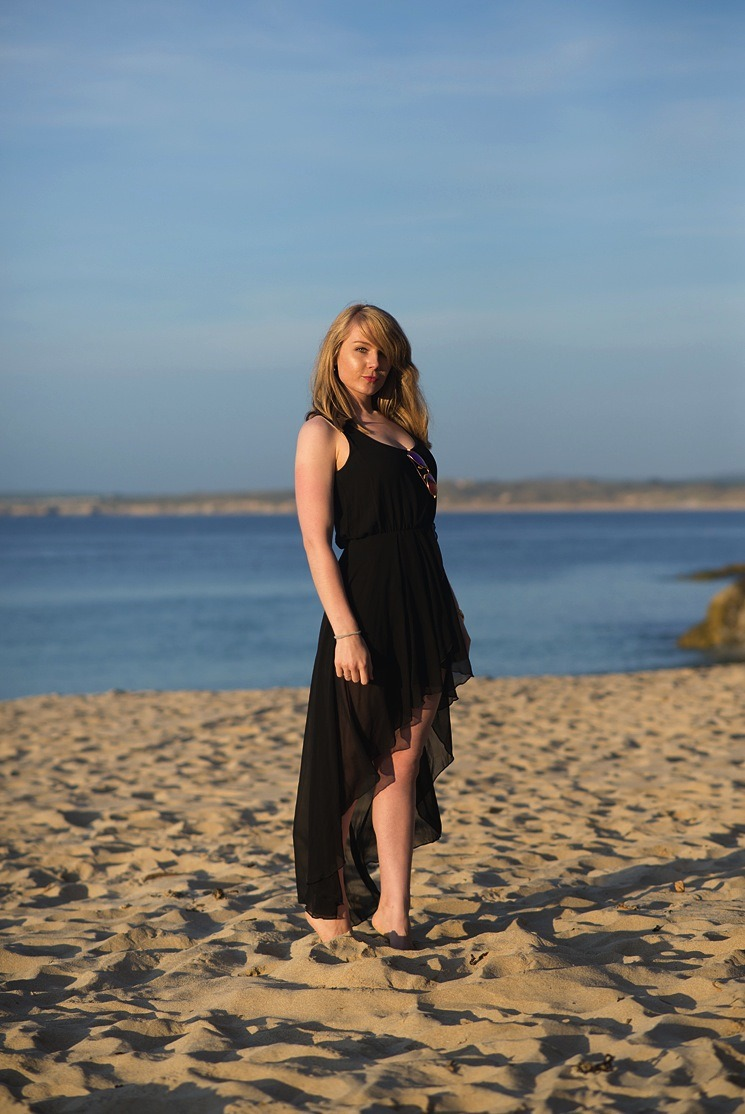 blogger-on-beach -Fotoshooting