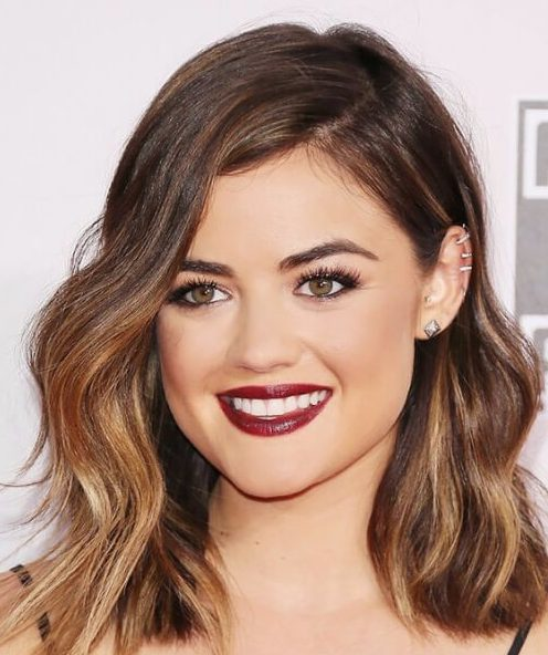lucy hale schulterlang bob