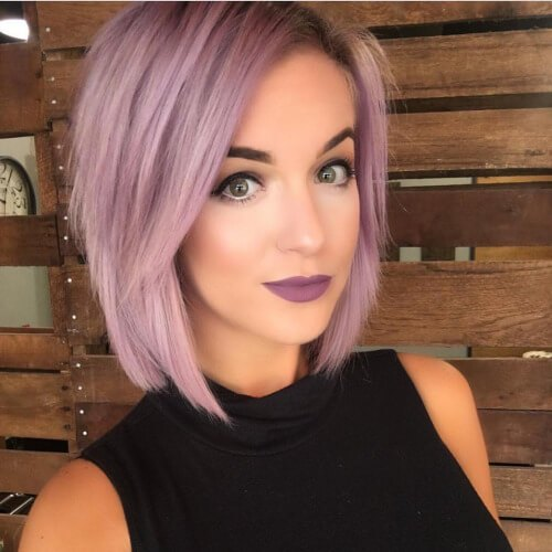 Purple Bob Haircuts