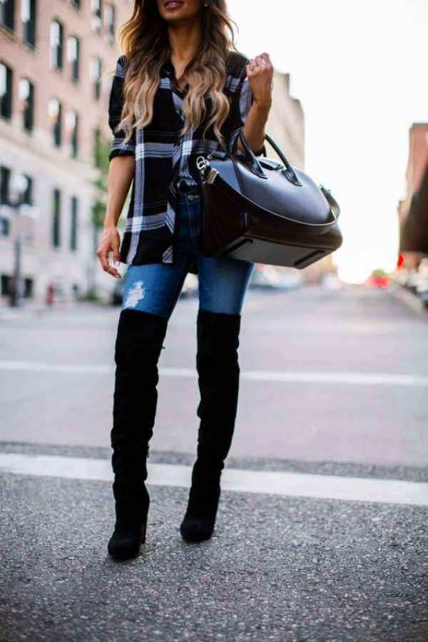 Latest-Knee-High -Boots-Outfit-Ideen