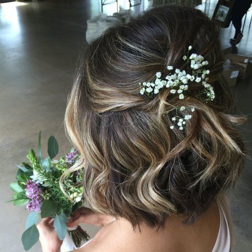 Bridal Hairstyles with Bobs