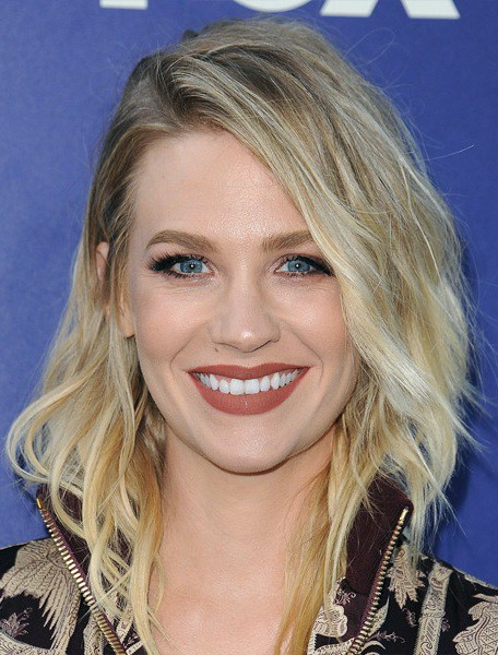 Januar Jones Mittel Wellig Bob Frisur