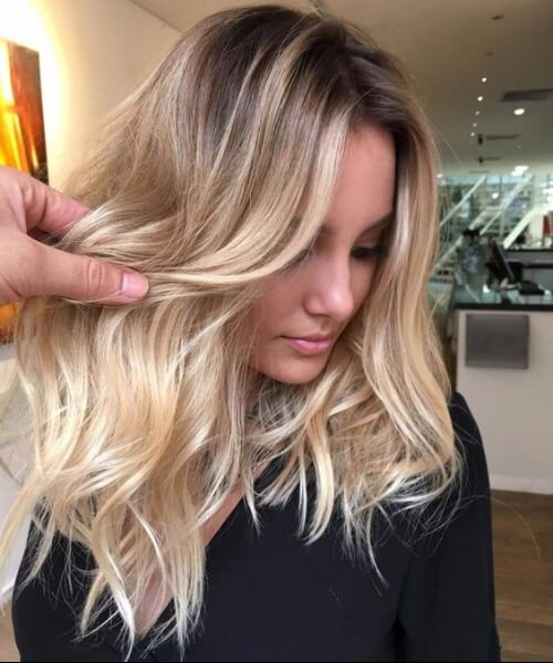 hell golden blonde Balayage