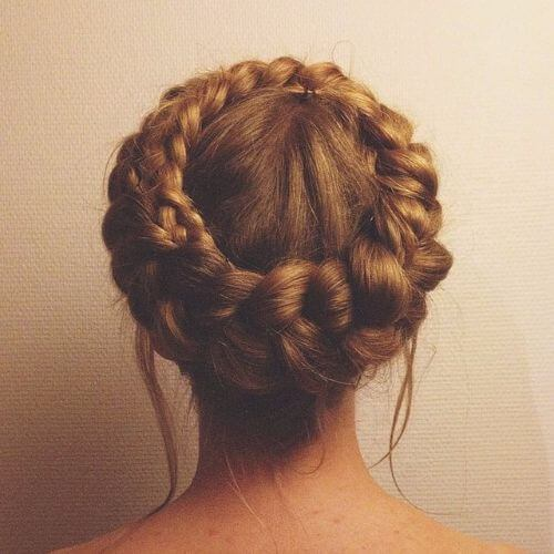 Dutch Braids Crown geflochtene Hochsteckfrisuren