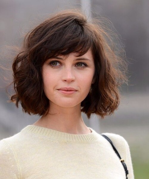felicity jones kurze Frisuren