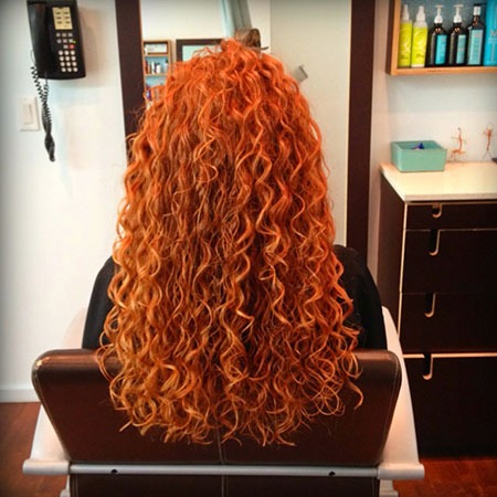 Curly Red Perm Locken Spiral Girl Devacurl Curl Artist