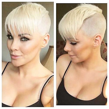 Blonde Frauen Undercut Short