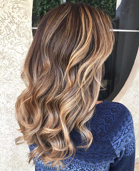 Balayage Brown Ombre Highlights Karamell Lichtkopf