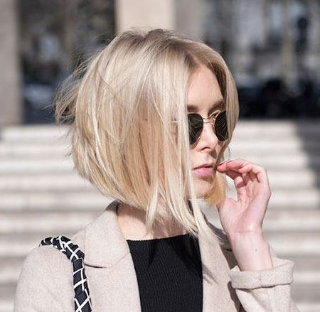 Blonde Haarfarbe, Frauen Winter Hairytles