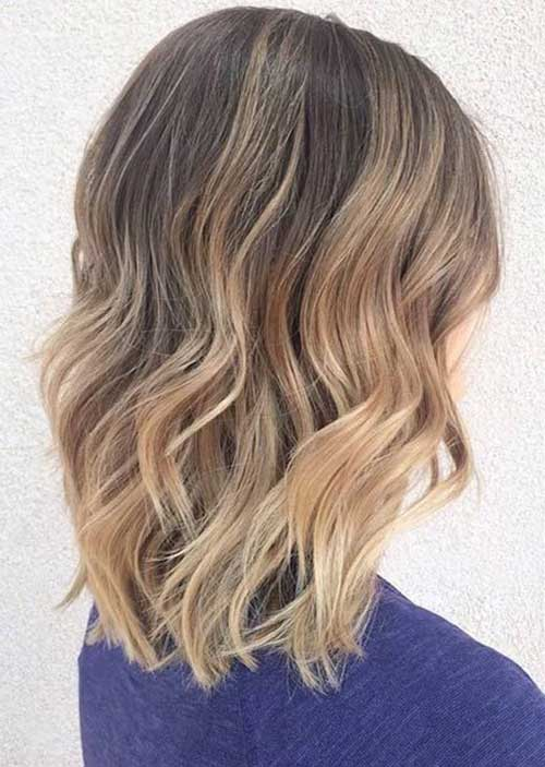 Blonde Balayage Short Hair-14
