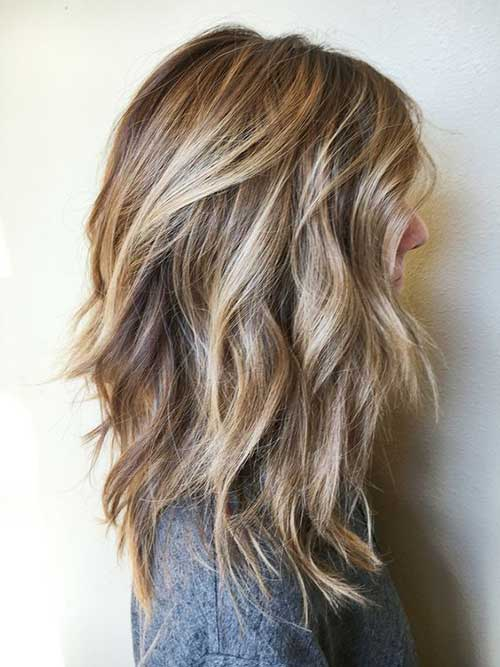 Layered lange Frisuren