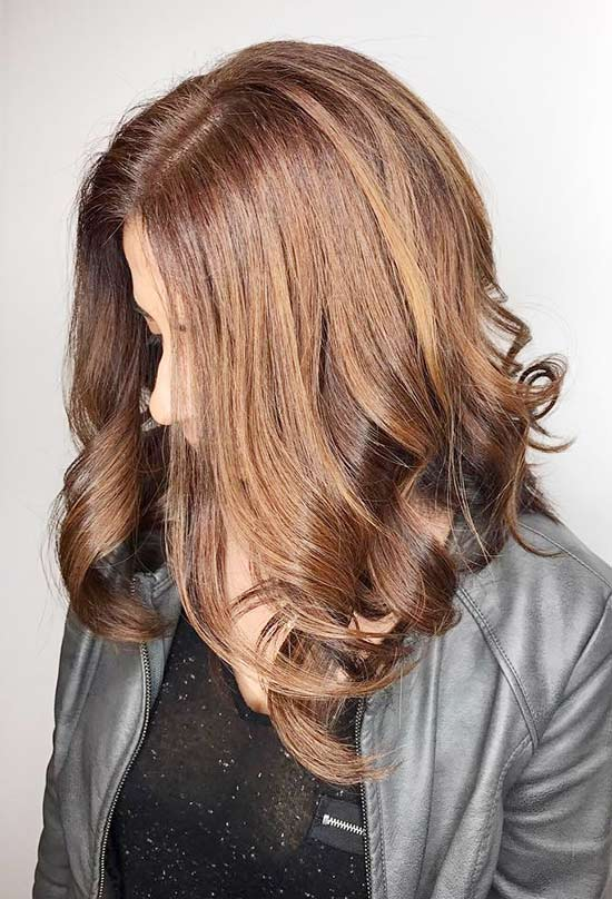 16. Metallic Caramel Highlights