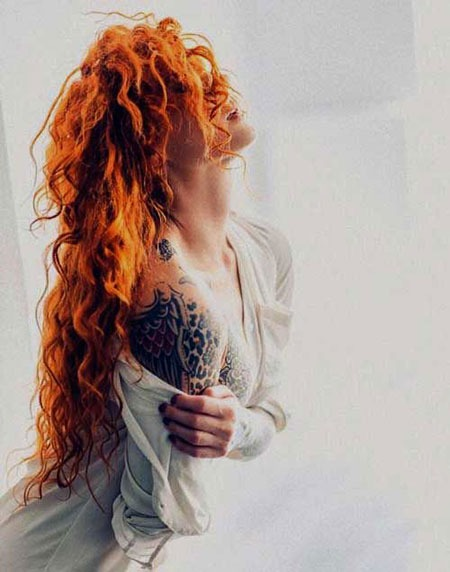Red Curly Trendy Redheads lange Locken