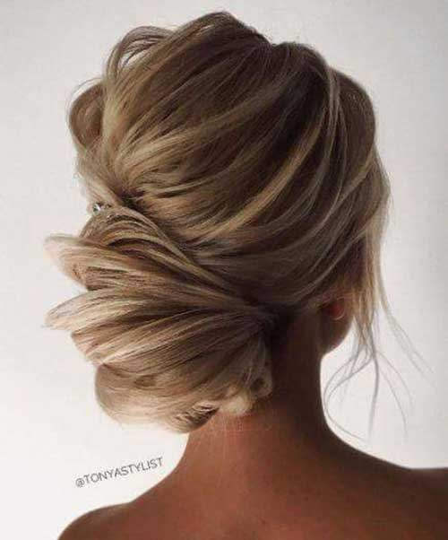 Messy Low Bun Frisuren-15