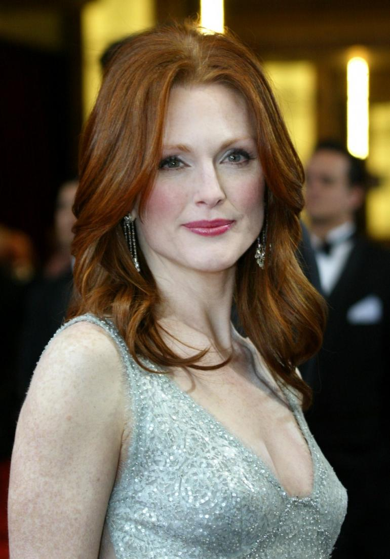 Julianne Moore reiche Kupfer-Haarfarbe Trends 2017 Herbst-Winter 2018