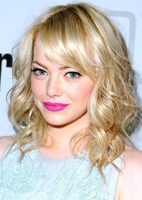 Emma Stone Hair mit Pony