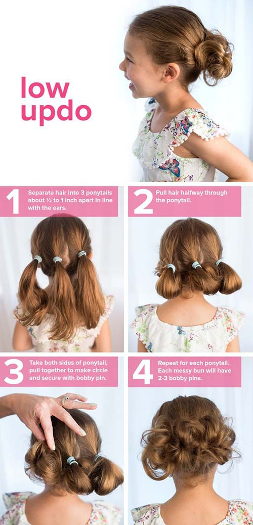 3. Triple Low Updo