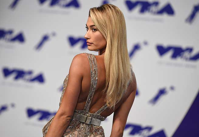 Hailey Baldwin Promi Frisuren VMA 2017