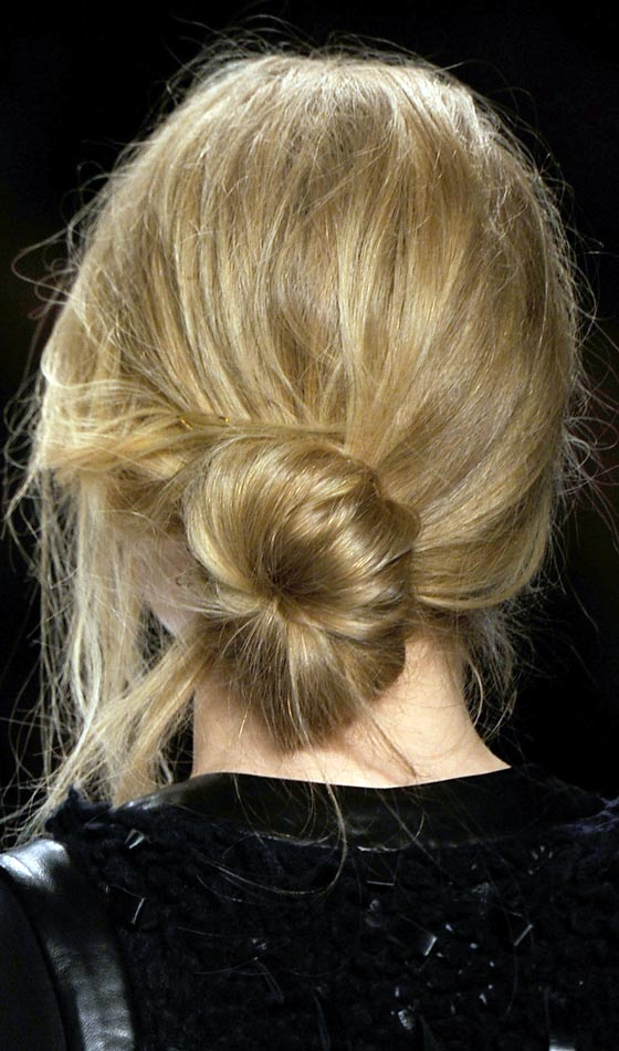 Half Way Curled-Chignon-Look