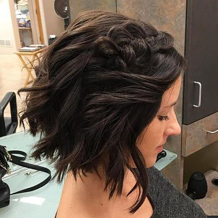 Choppy Bob Brunette Braids