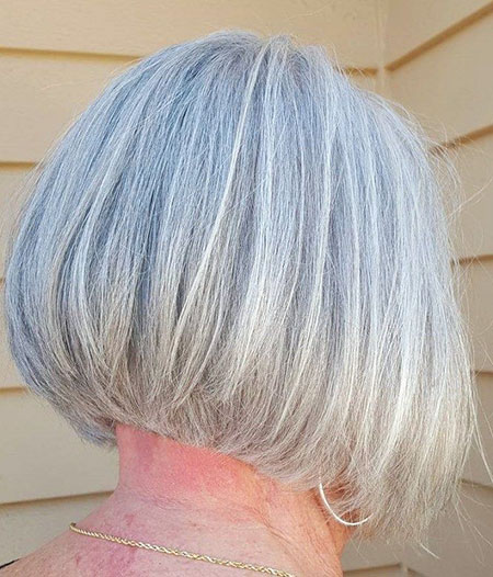 Gray Bob Layered Grau