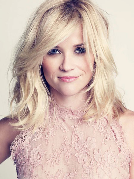 Reese Witherspoon Blonde gewellte Schulter Shaggy