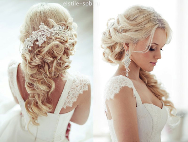 Half-Up-Half-Wedding-Frisuren-mit-Braut-Haar-Accessoires