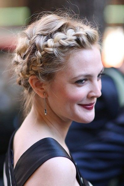 Drew Barrymore Crown Braid über