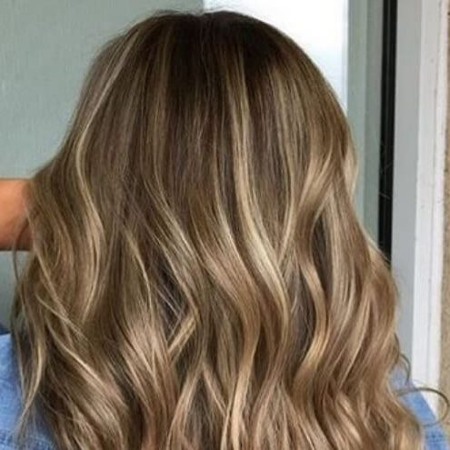 dunkle haare helle highlights