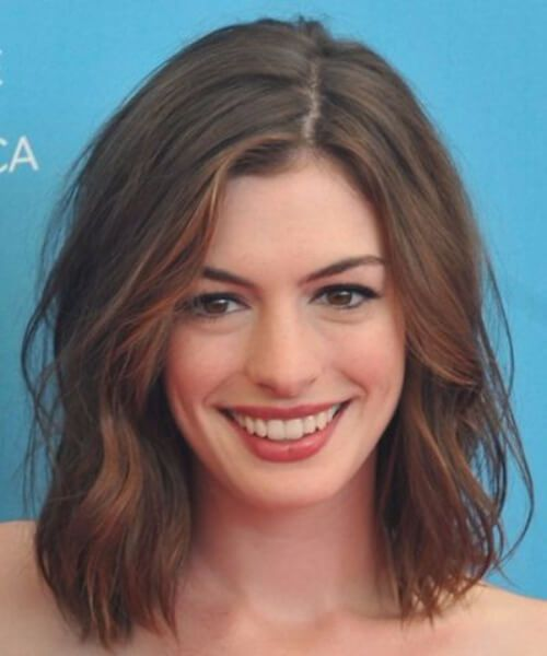 Anne Hathaway schulterlang Bob