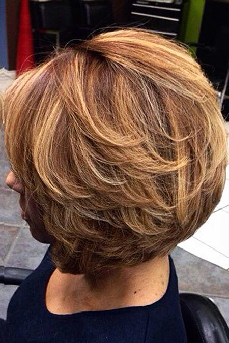 Caramel Bob Layered Frauen