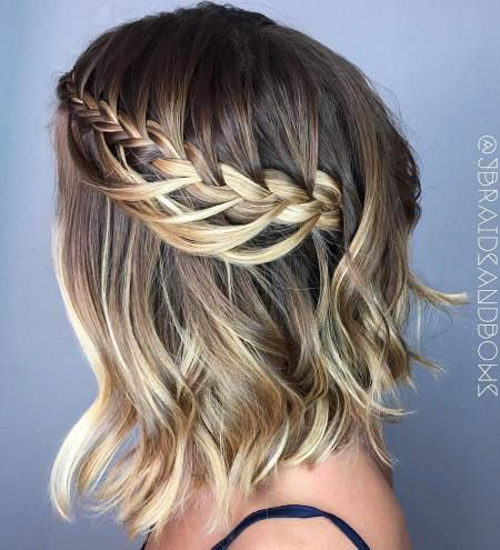 Braid Crown geflochtene Bob