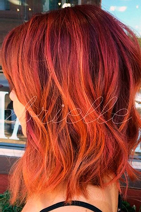 Red Ombre Orange Farbe