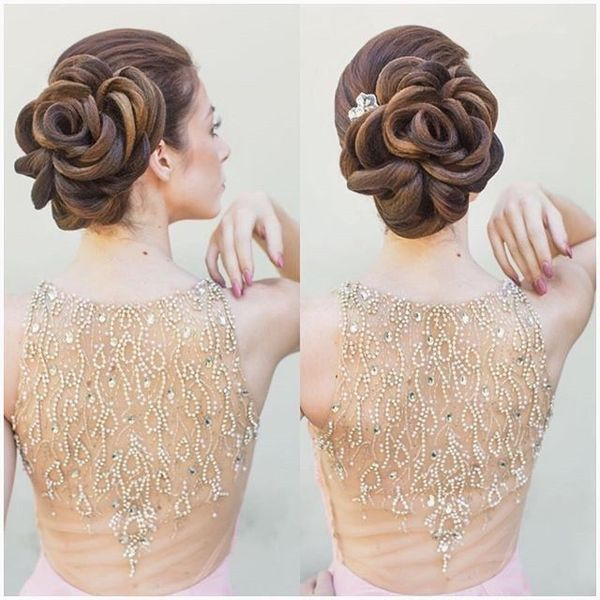 Magnificent Rose Updo