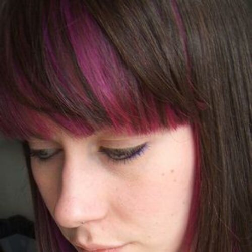 Magenta Peekaboo-Highlights