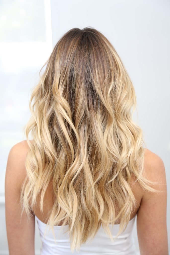 Sun küsste blonde Highlights