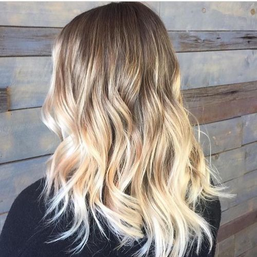 Hellblond ombre