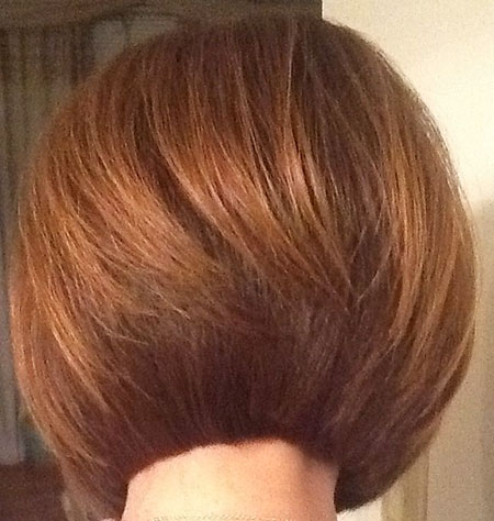 Bob Red Layered Inverted Sehr Gestapelte Bobs Blunt All