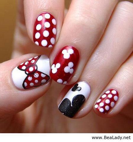 niedlich Minnie Maus Nails, Minnie Maus Disney Woche