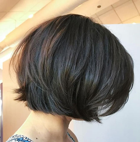 Bob Length Layered Brown