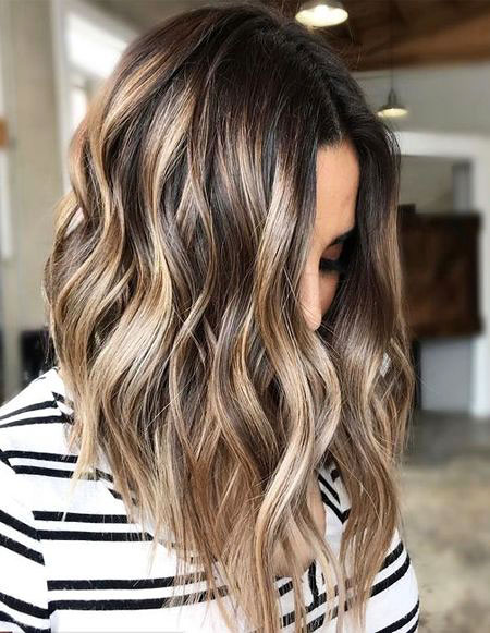 Balayage Haarfarbe Brown