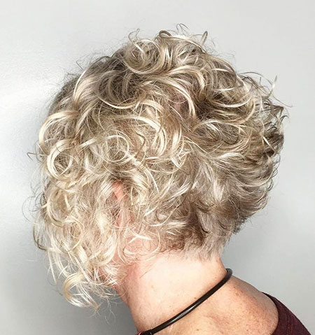 Curly Blonde Kurzes Haar