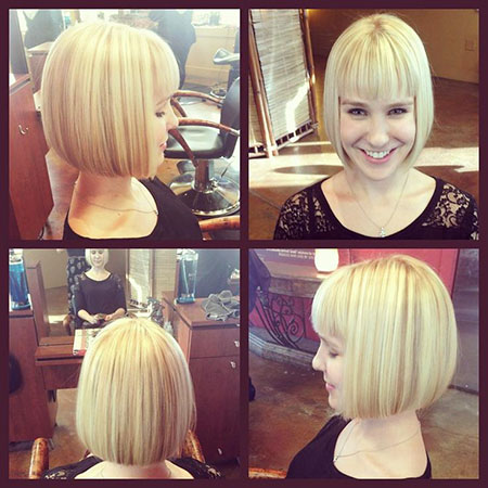 Bob Hair Fringe Blond
