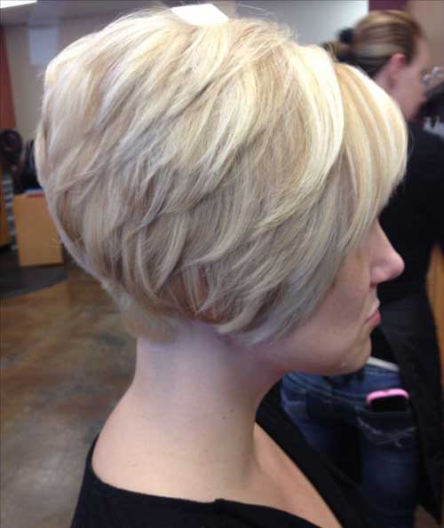 "Short Stacked Bob ""title="" Short Stacked Bob Stil ""><div class="