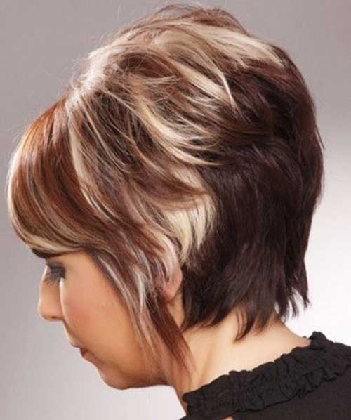 Layered Stacked Ash Blonde Bob Haar