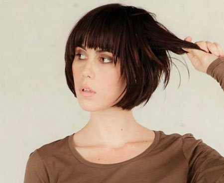 Short Bob mit Fransen, Short Bob Bangs Hair