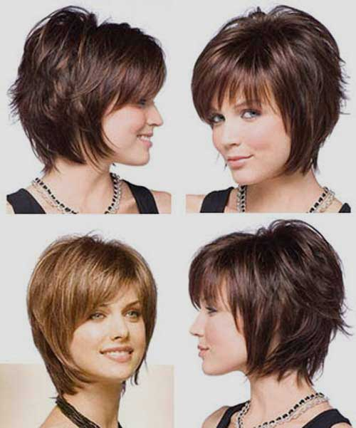 Gestapelte Choppy Layered Bob Haar