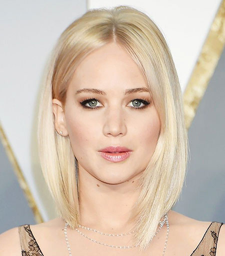 Thin Lawrence Jennifer Bob Blonde Bangs Alle