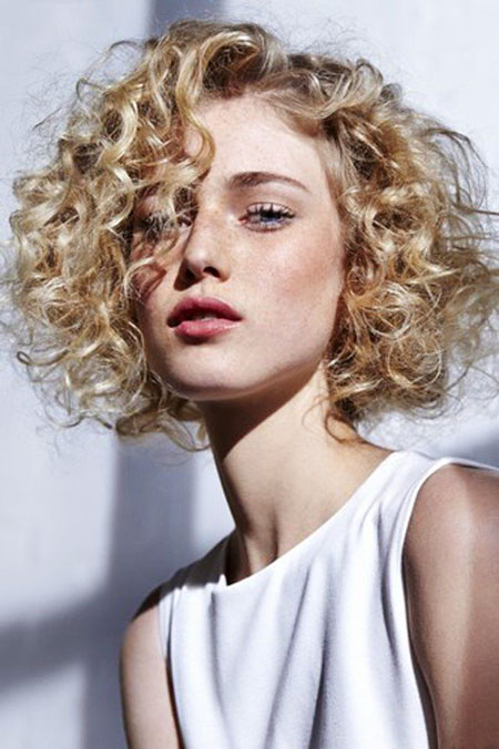 Krauses Blondes Locken, Lockiges Haar Locken Kurz