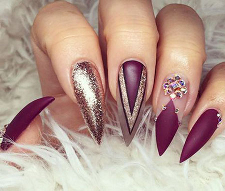 Nails Stiletto Nagel lang